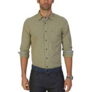 Nautica Plaid Button Down Shirt
